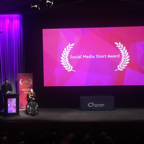 AHRC Research in Film Awards 2018 at BAFTA Sophie Morgan Channel 4