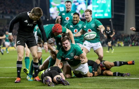[Nov] Ireland beat world champions New Zealand for the first time ever on home soil - Jacob Stockdale scores the only try