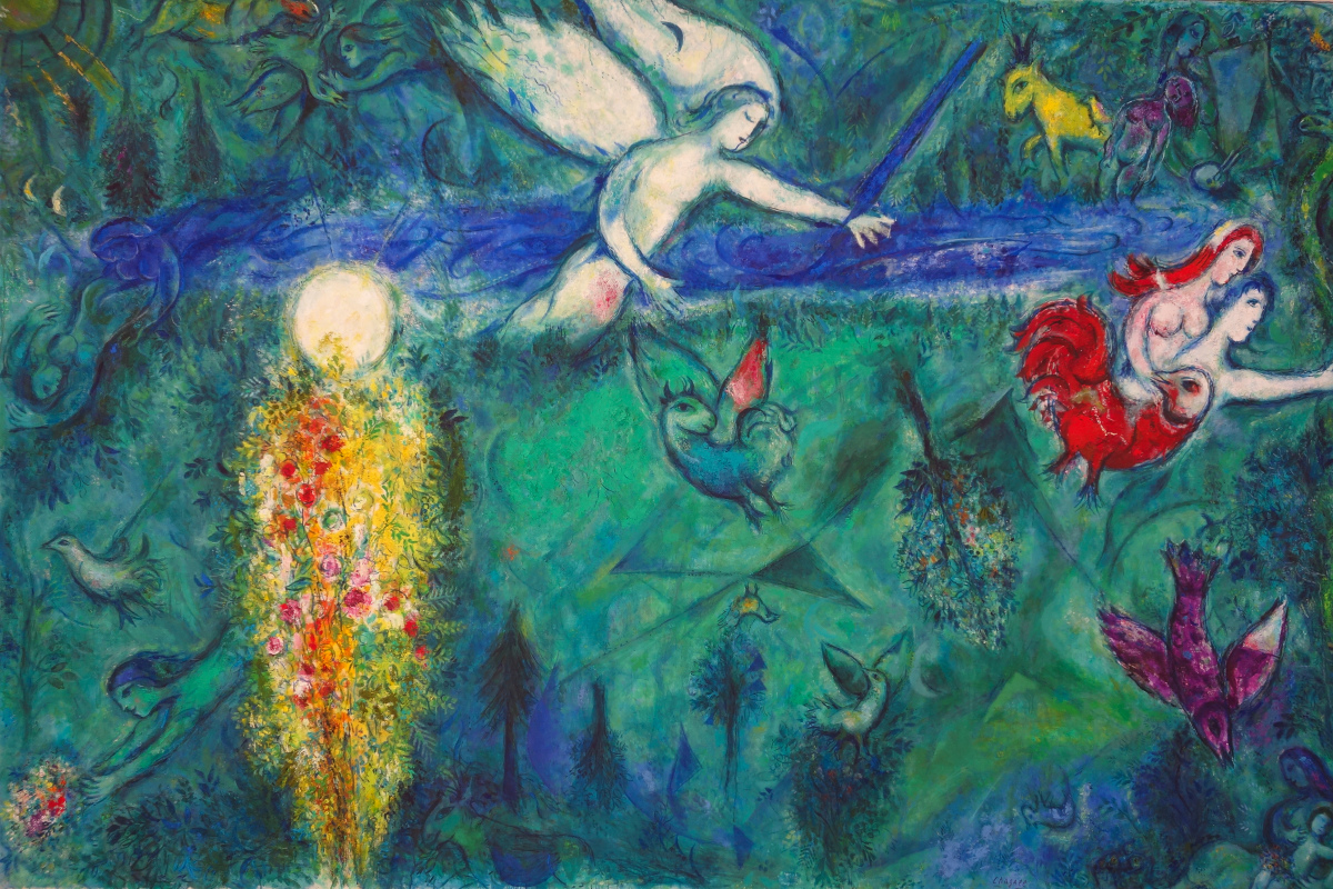 Adam and Eve expelled from Paradise / Adam et Eve chassés du Paradis - Marc Chagall (1961)