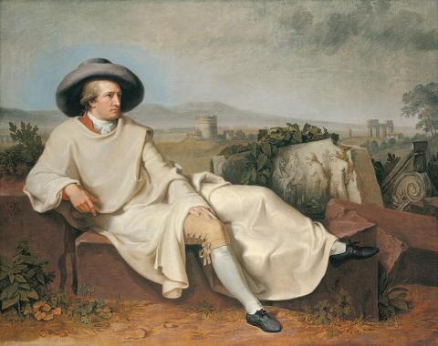 Goethe In The Roman Campagna by Johann Heinrich Wilhelm Tischbein (1787)