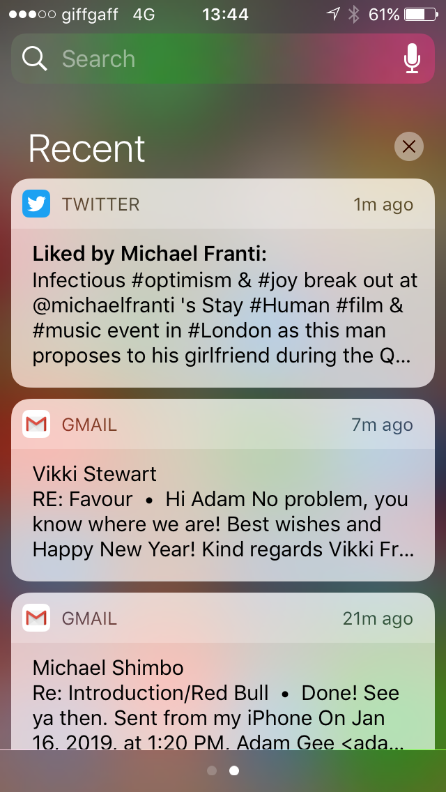 tweet liked by michael franti