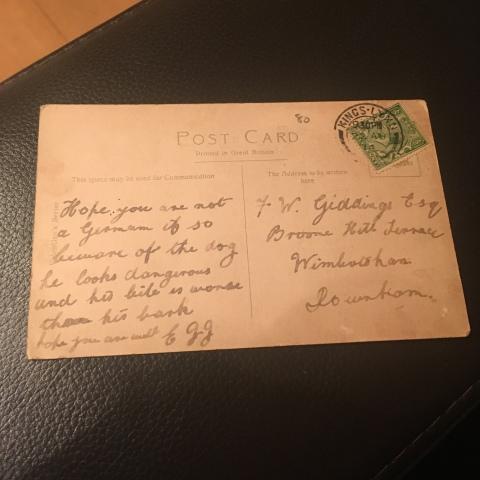 on guard world war one postcard august 1914