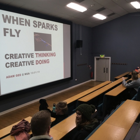 adam gee lecture at nua norwich on creative thinking