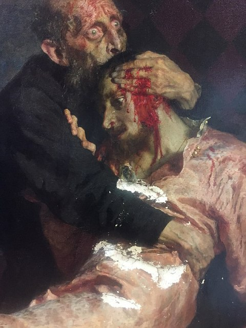 Ivan the Terrible and his son Ivan by Ilya Repin (1883 - 1885)