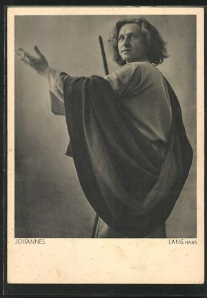 ansichtskarte oberammergau, passionsspiele 1930, johannes darsteller- hans lang postcard saint john
