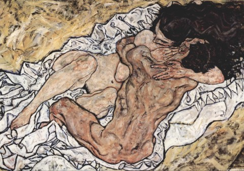 Egon Schiele : The Embrace (The Loving), 1917