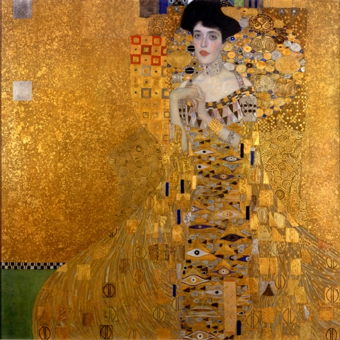 Portrait of Adele Bloch-Bauer I is a painting by Gustav Klimt, completed between 1903 and 1907. The portrait was commissioned by the sitter's husband, Ferdinand Bloch-Bauer, a Jewish banker and sugar producer. The painting was stolen by the Nazis in 1941 and displayed at the Österreichische Galerie Belvedere
