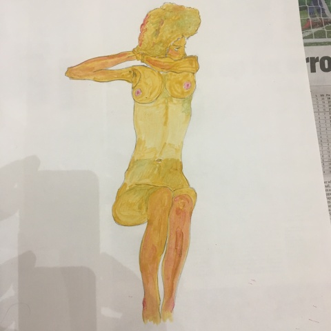 adam gee copy of egon schiele painting