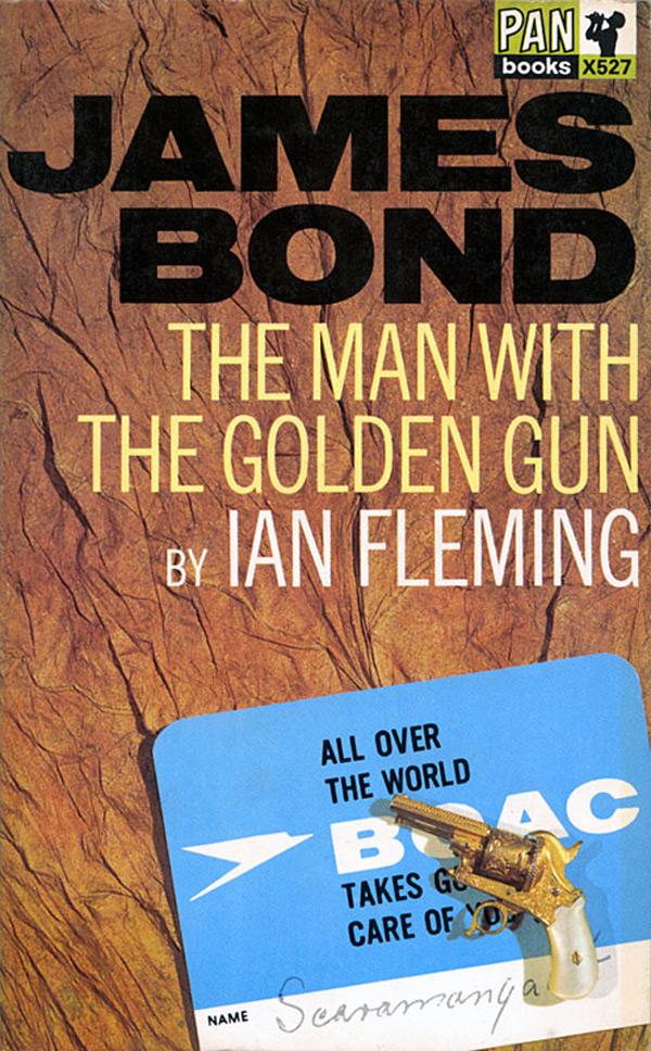 james_bond_13_the_man_with_the_golden_gun ian fleming book cover design