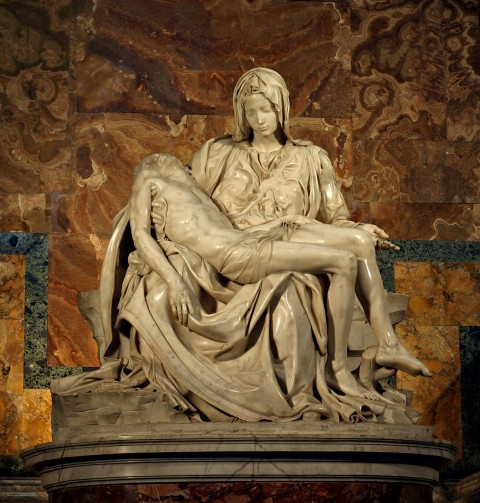 La Pietà,by Michelangelo (1499) sculpture