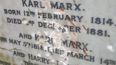 karl marx tomb vandalised highgate cemetery