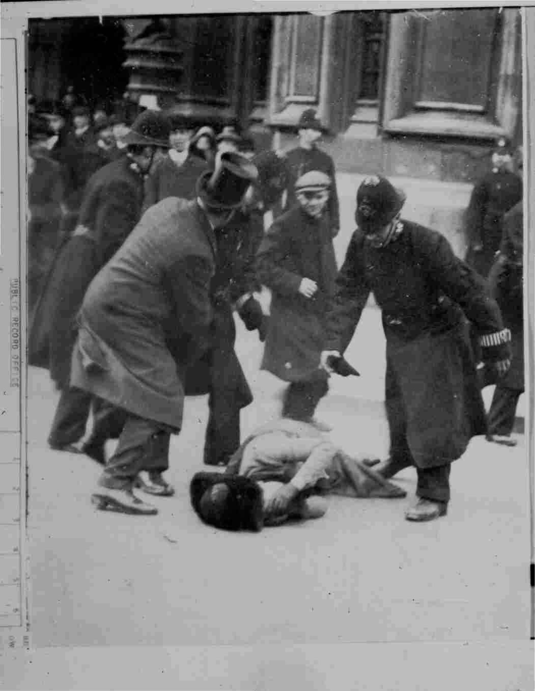 Black-friday suffragette march attacked by police
