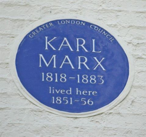 blue plaque karl marx dean street soho london