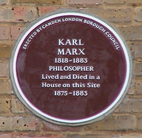 karl marx brown camden plaque Maitland Park Road belsize park london
