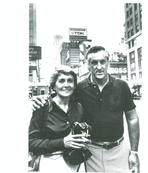 Greta Zimmer Friedman and George Mendonsa in photo taken by a Life Magazine photographer, at Times Square, New York
