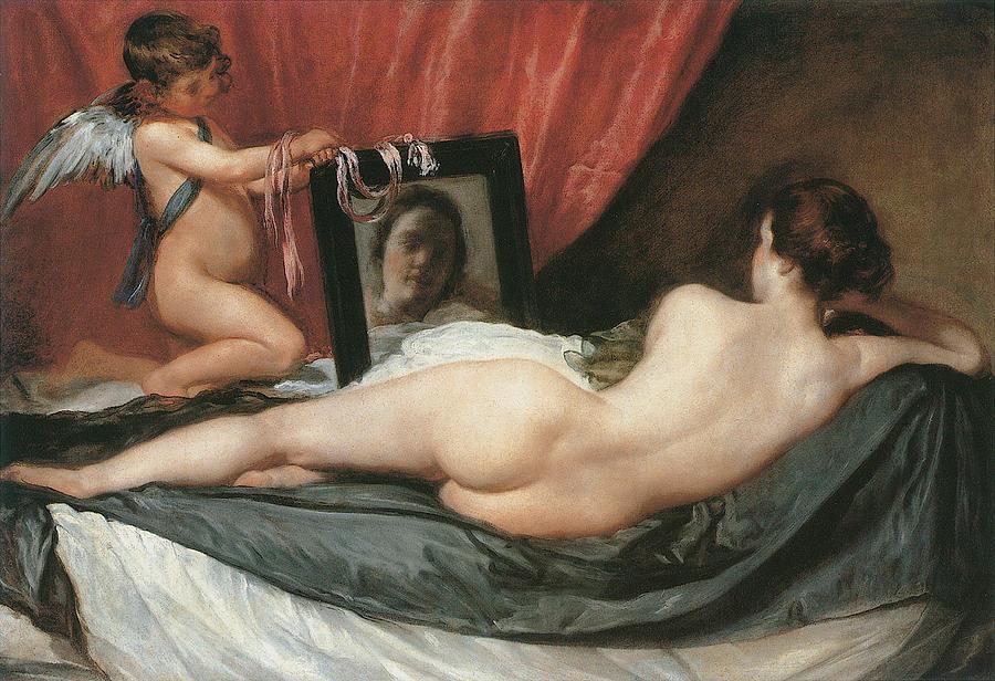 venus-and-cupid-diego-velazquez Rokeby Venus in the National Gallery painting slashed vandalised