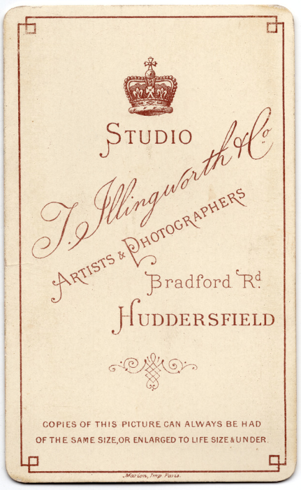 Thomas Illingworth & Co. Huddersfield photographer