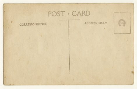 tennis TIC vintage postcard reverse