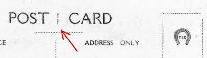 TIC postcard markings logo mark brand