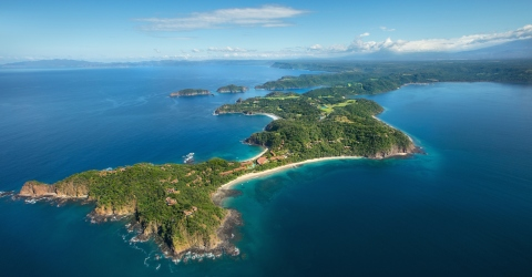 Peninsula-Papagayo-wide-aerial-shot