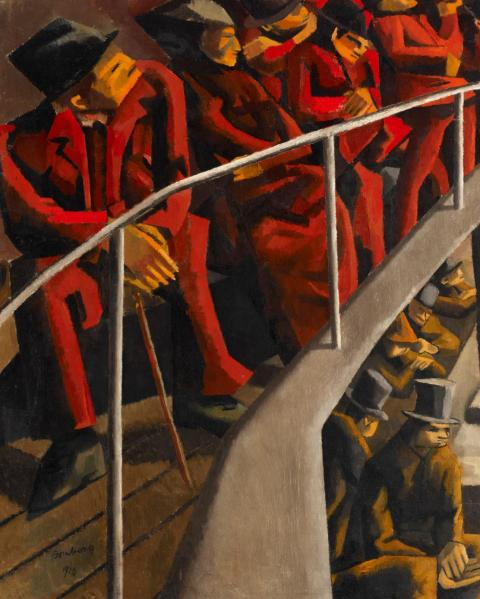 david bomberg, ghetto theatre, 1920, ben uri