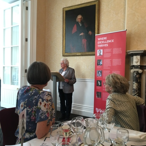professor susan parkes at trinity college dublin lecturing on the steamboat ladies
