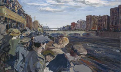 Yeats-Liffey-Swim 1923 painting national gallery ireland