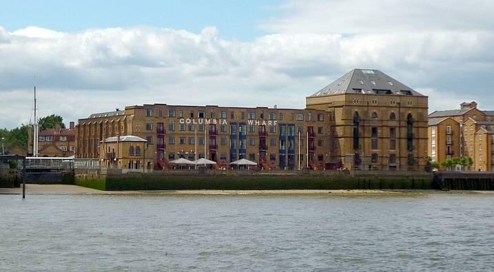 columbia wharf london river thames