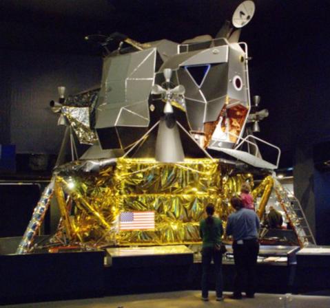 The replica Apollo Lunar Excursion Module (LEM), in the London Science Museum.