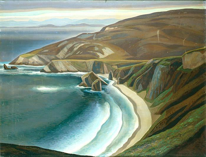 """Irish Coast, Donegal,"" Rockwell Kent, oil on canvas, The Pushkin State Museum of Fine Arts, Russia."