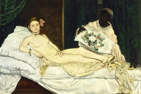 Edouard-Manet-Olympia 1863 painting