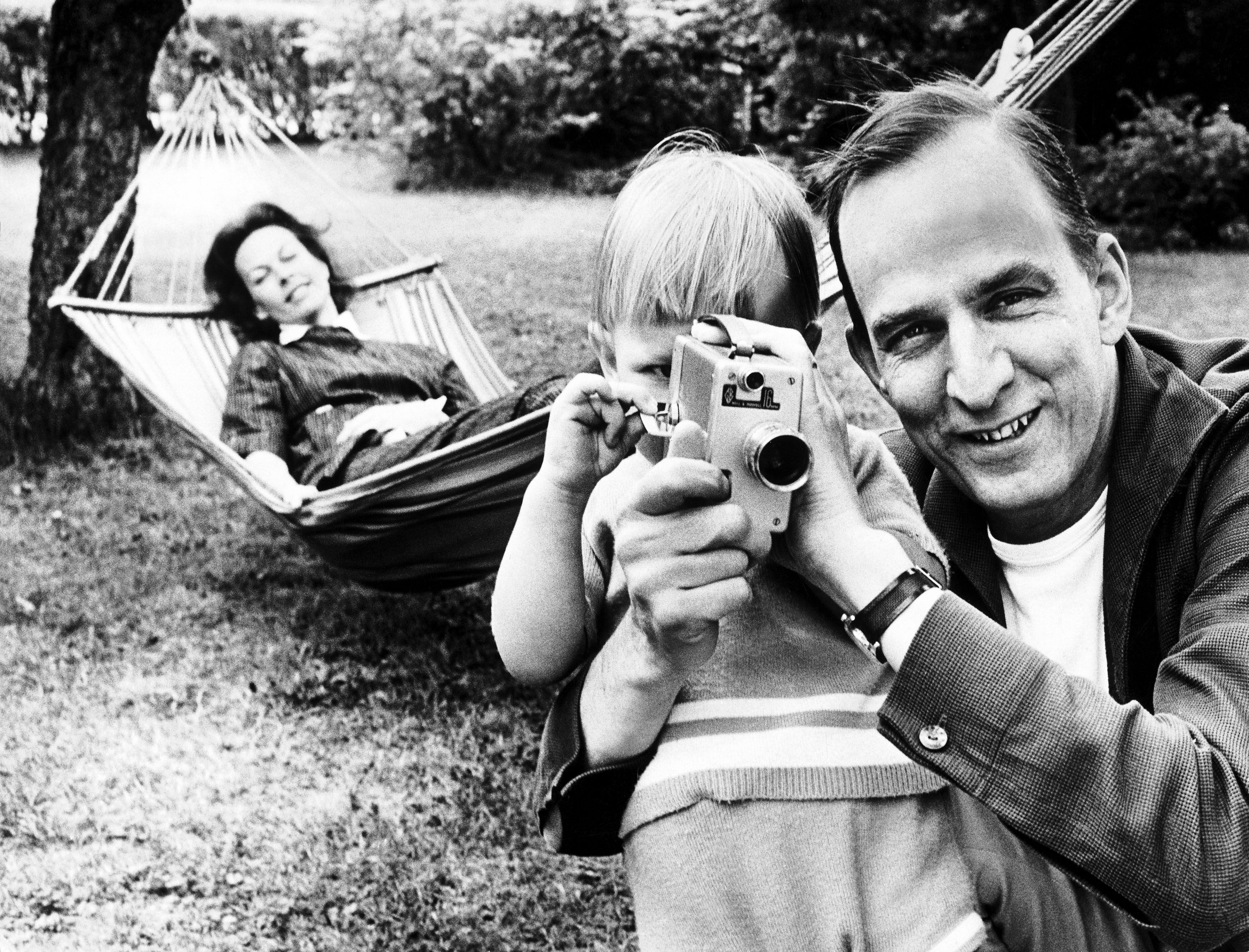 ingmar bergman swedish film director with family