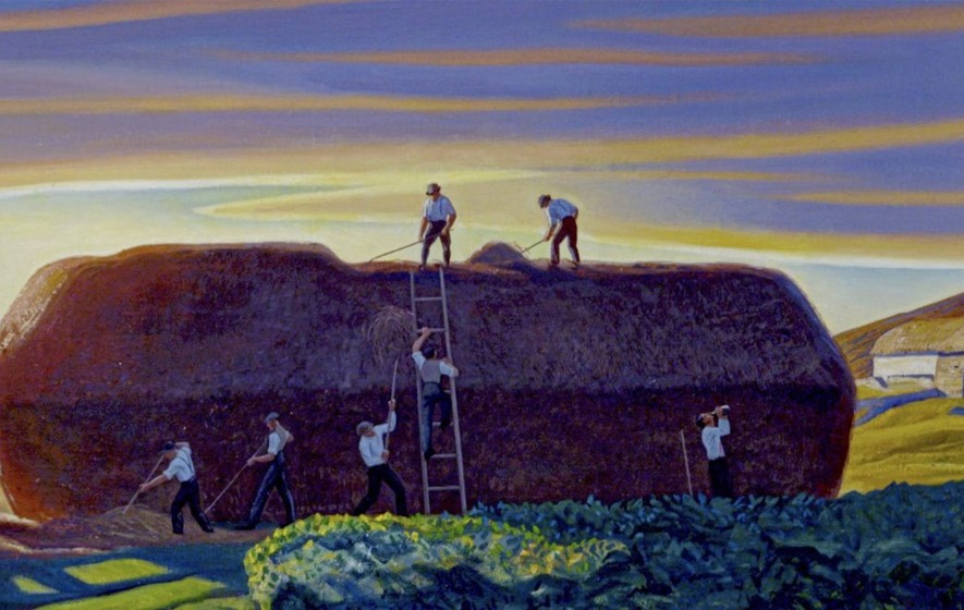 rockwell kent dan wards stack painting haystack