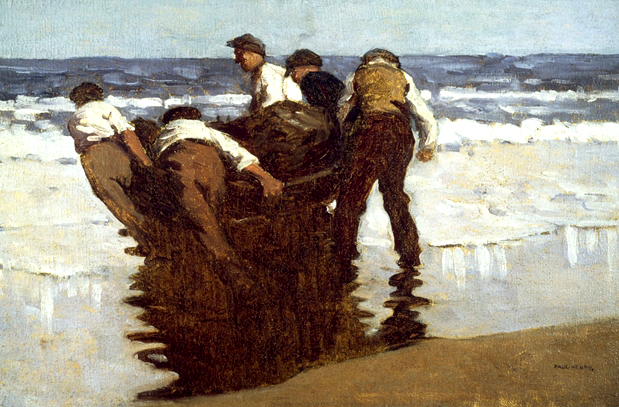 Paul Henry 'Launching the Currach' painting (c.1910)
