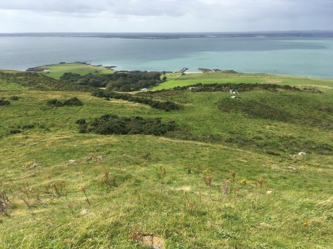 view from the summit of Lambay Island County Dublin Ireland