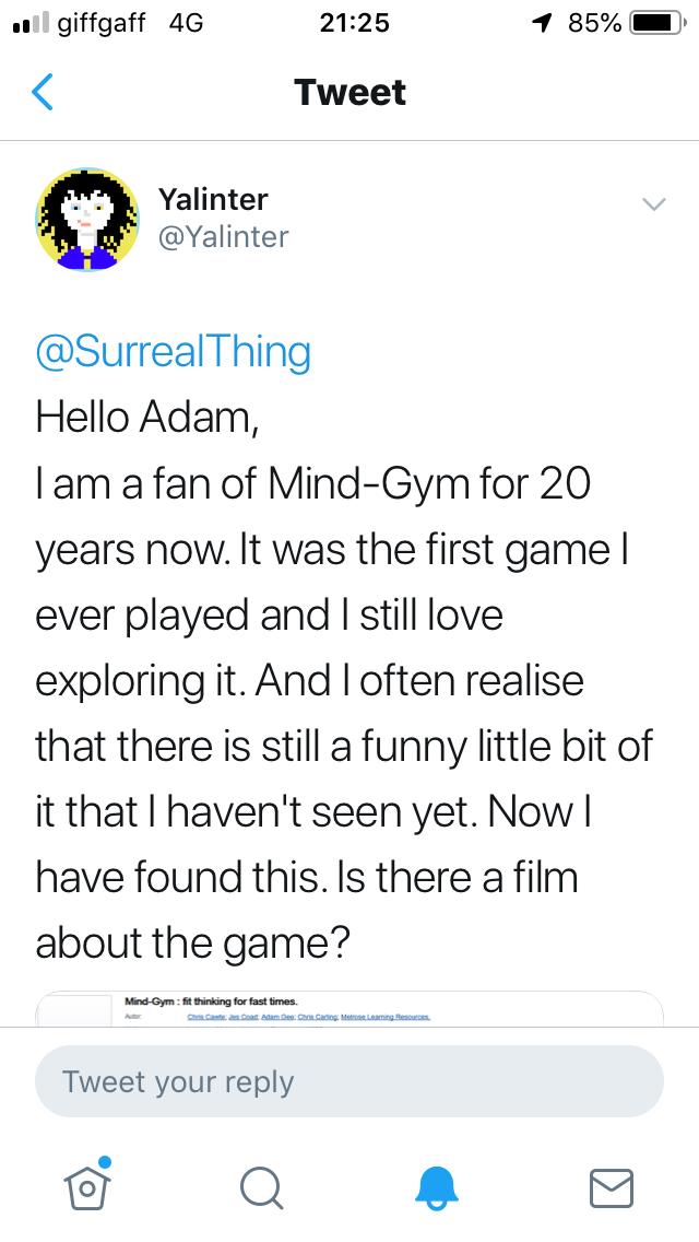 tweet about MindGym