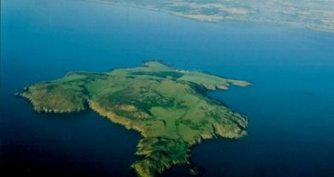 Lambay Island from the air county dublin ireland