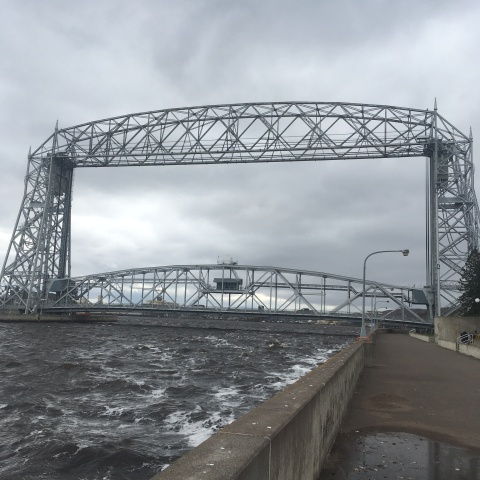 lifting bridge lake superior duluth minnesota by adam gee