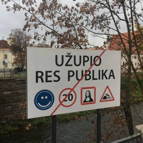 uzupis republic vilnius lithuania