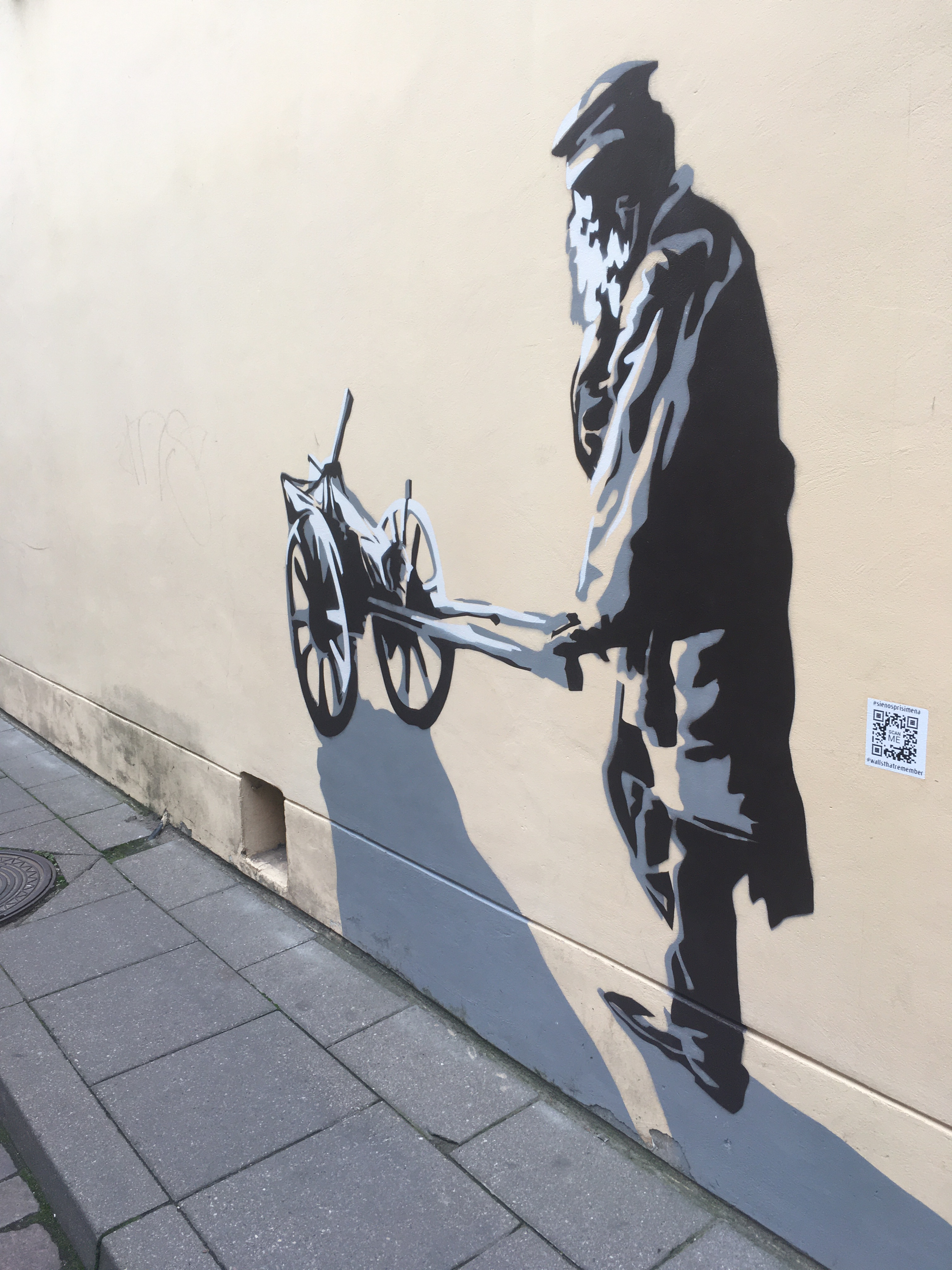 mural old jewish quarter ghetto vilnius lithuania