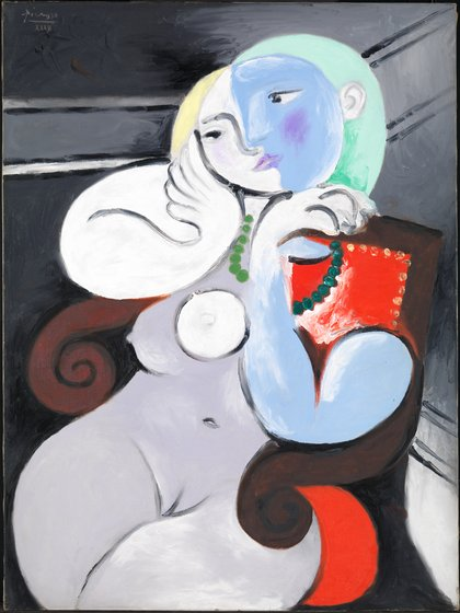 Nude Woman in a Red Armchair 1932 by Pablo Picasso