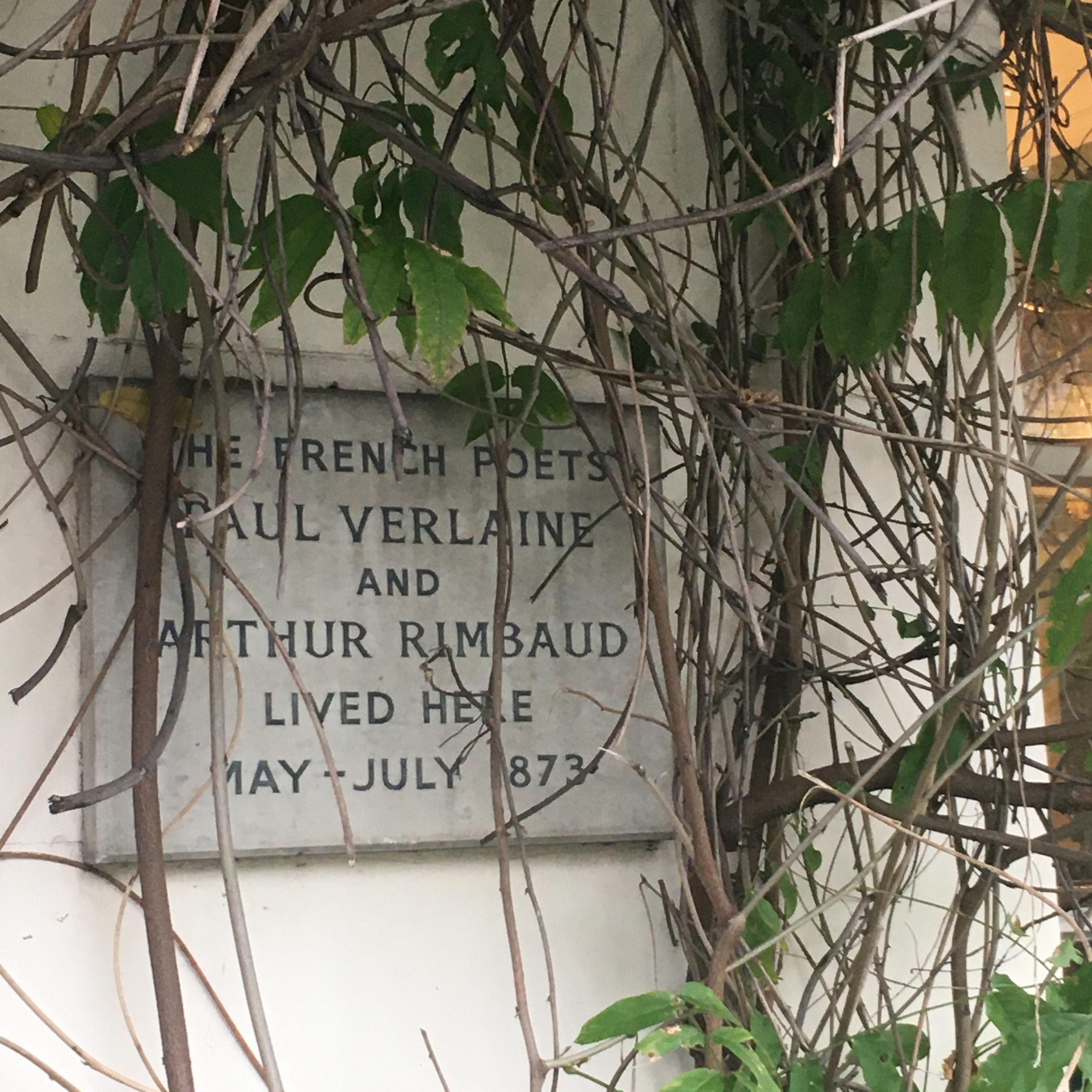verlaine rimbaud camden town plaque