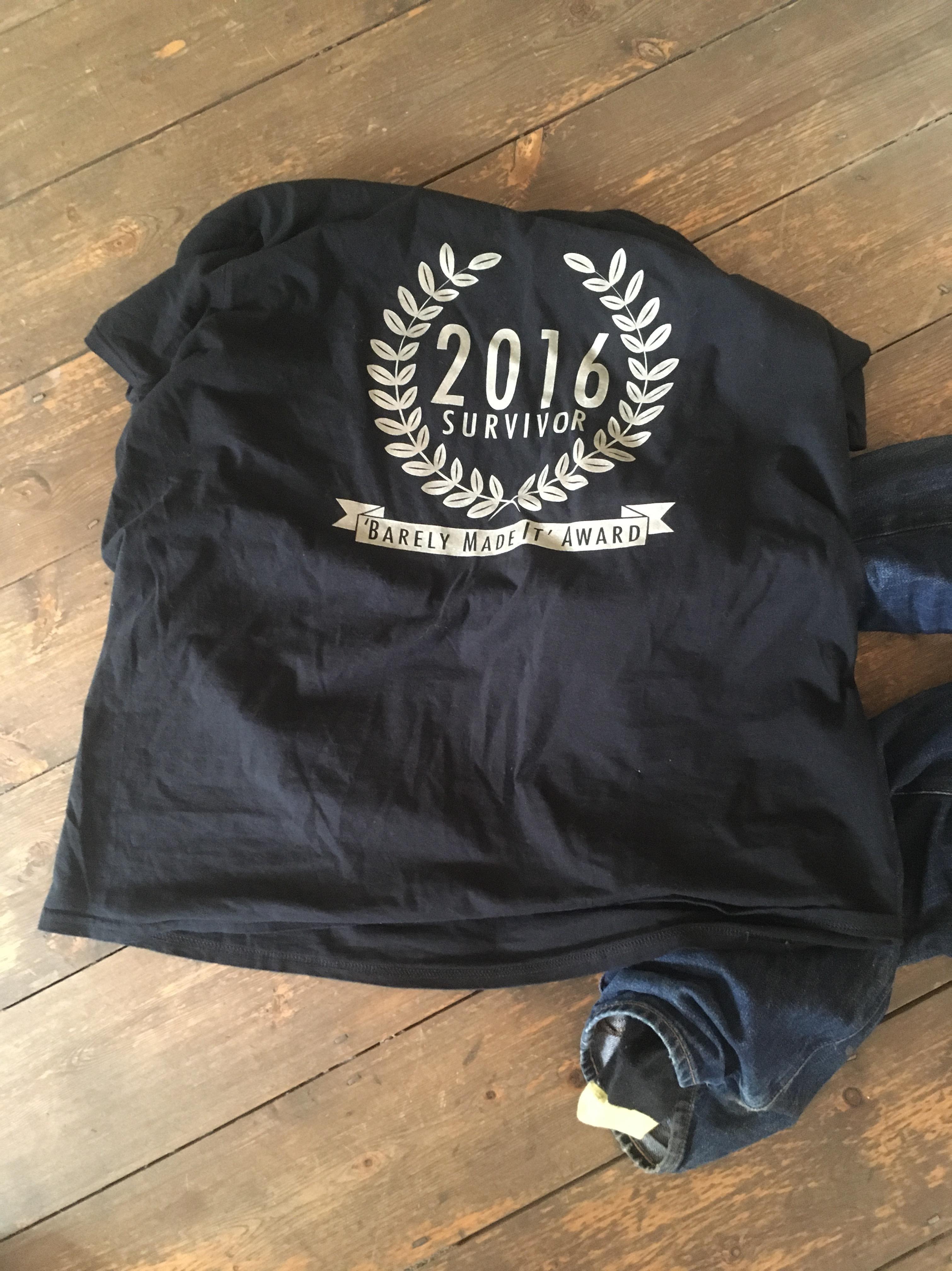 2016 survivor tshirt