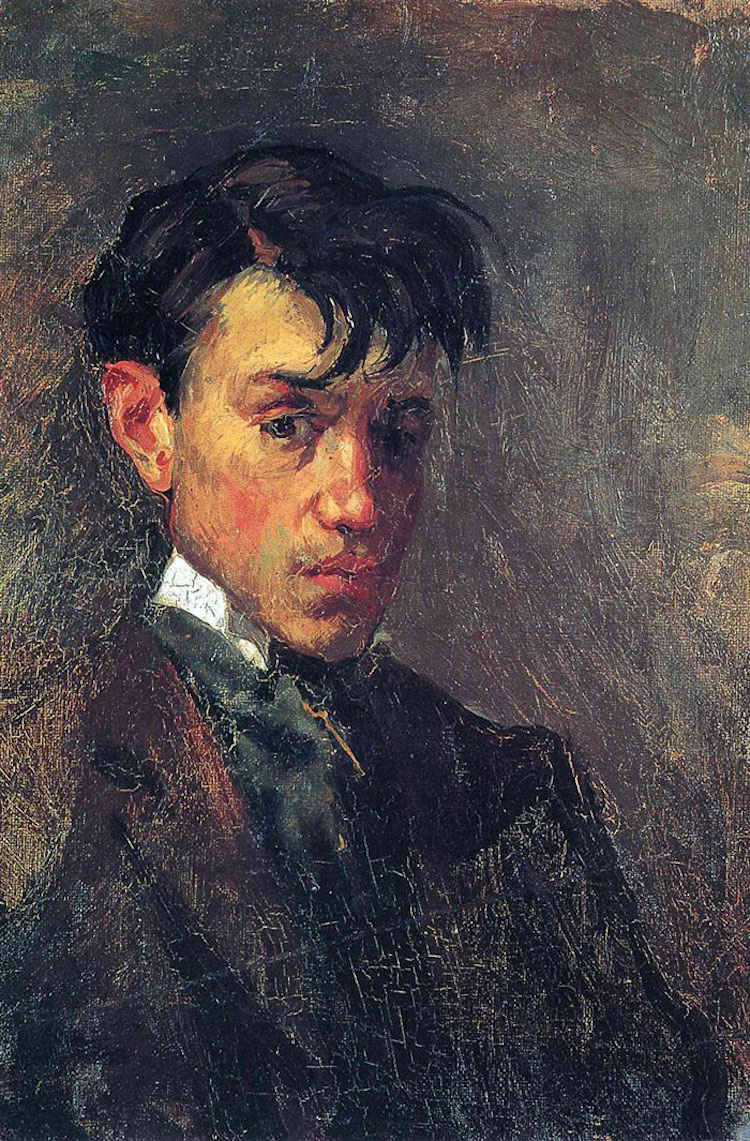picasso-early-work Self-Portrait 1896 age 15