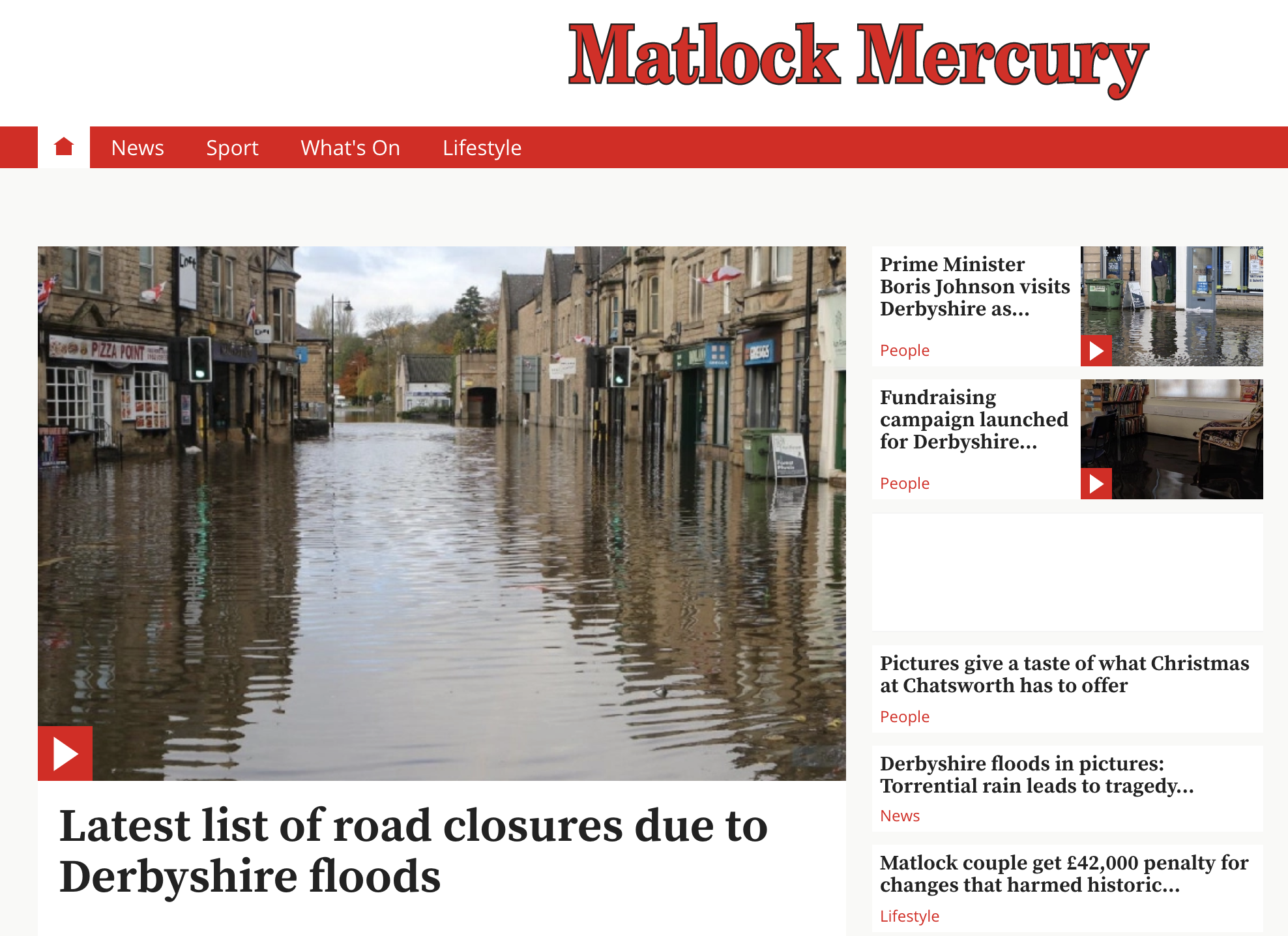 Matlock Mercury floods 2019-11-09