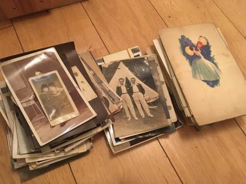 pile of family photos photographs