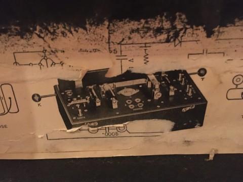 box of telephone equipment detail