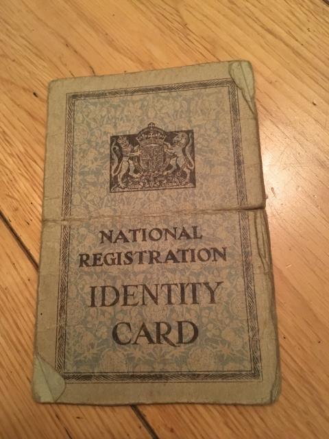 national registration identity card britain