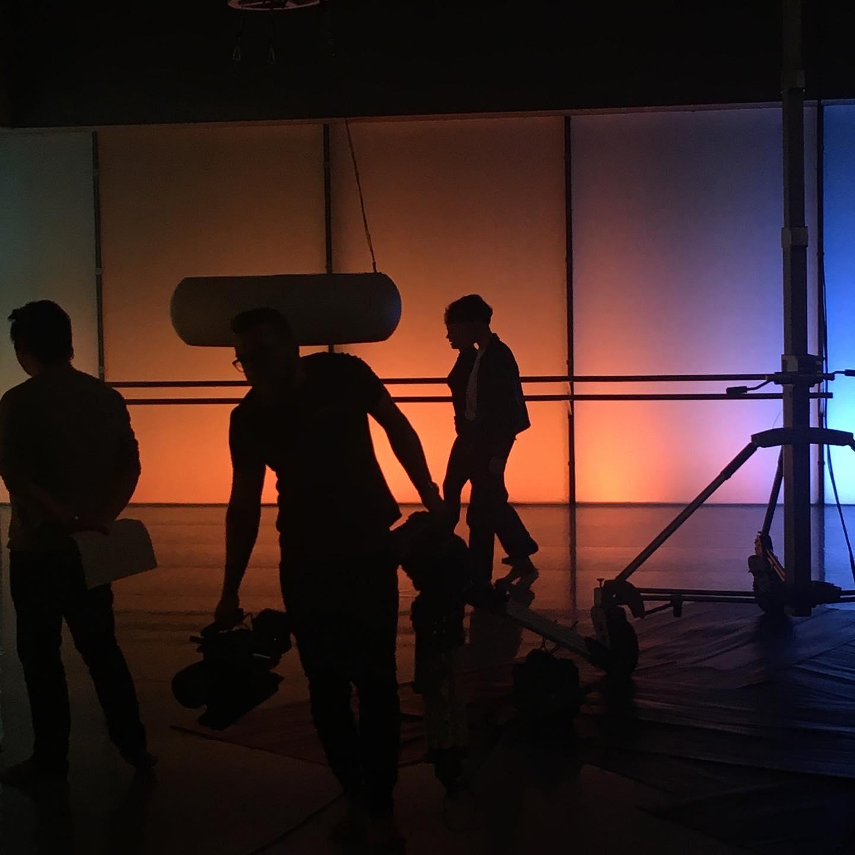 film set rehearsal lighting shoot deptford laban studio