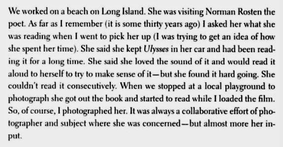 eve arnold_letter to Richard Brown about _marilyn monroe_ulysses